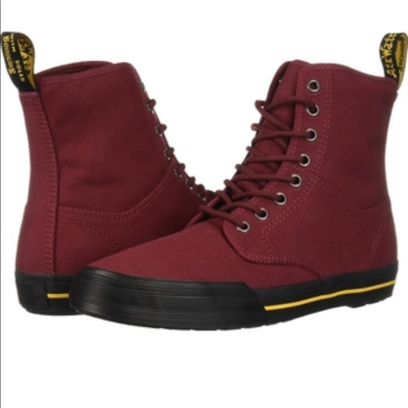Dr Martens Winsted Cherry Red Canvas